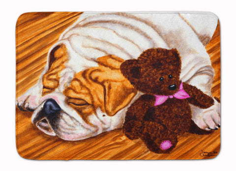 Buy this English Bulldog and Teddy Bear Machine Washable Memory Foam Mat AMB1003RUG