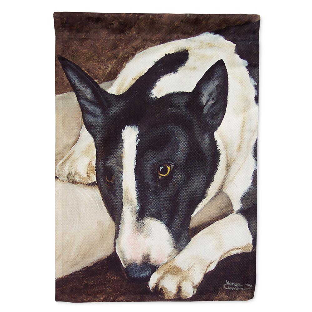 Buy this Bull Terrier by Tanya and Craig Amberson Flag Garden Size