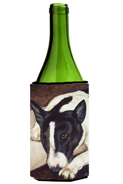 Buy this Bull Terrier by Tanya and Craig Amberson Wine Bottle Beverage Insulator Hugger AMB1030LITERK