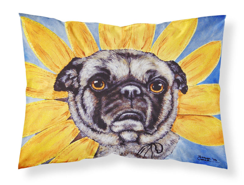 Buy this Sunflower Pug Fabric Standard Pillowcase AMB1058PILLOWCASE