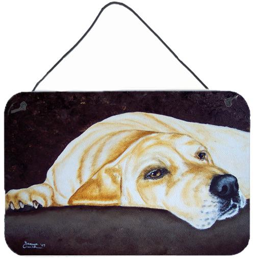 Buy this Naptime Yellow Labrador Wall or Door Hanging Prints AMB1072DS812