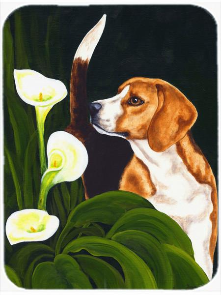 Beagle Lillies Glass Cutting Board Large AMB1077LCB by Caroline's Treasures
