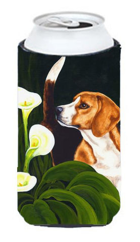 Buy this Beagle Lillies Tall Boy Beverage Insulator Hugger AMB1077TBC