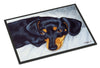 Black and Tan Doxie Dachshund Indoor or Outdoor Mat 18x27 AMB1079MAT - the-store.com