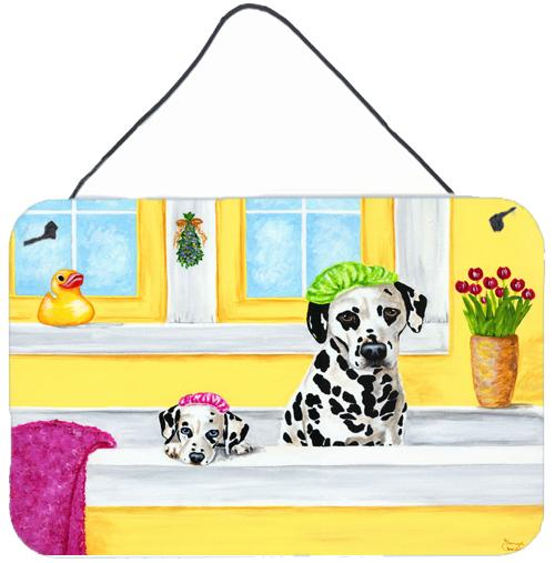 Bath Day Dalmatian Wall or Door Hanging Prints AMB1099DS812 by Caroline's Treasures