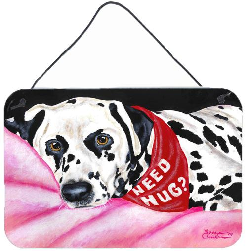 Need a Hug Dalmatian Wall or Door Hanging Prints AMB1148DS812 by Caroline's Treasures