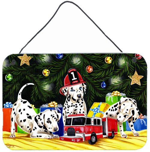 Christmas Favorite Gift Dalmatian Wall or Door Hanging Prints AMB1316DS812 by Caroline's Treasures