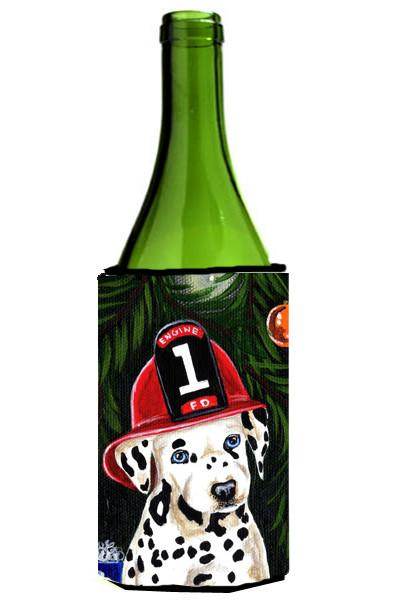 Fire Fighter Christmas Dalmatian Wine Bottle Beverage Insulator Hugger AMB1317LITERK by Caroline's Treasures