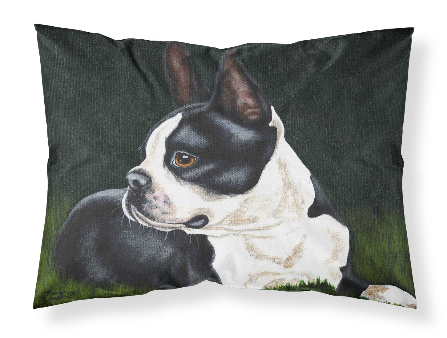 Boston Terrier Beauty Fabric Standard Pillowcase AMB1321PILLOWCASE by Caroline's Treasures