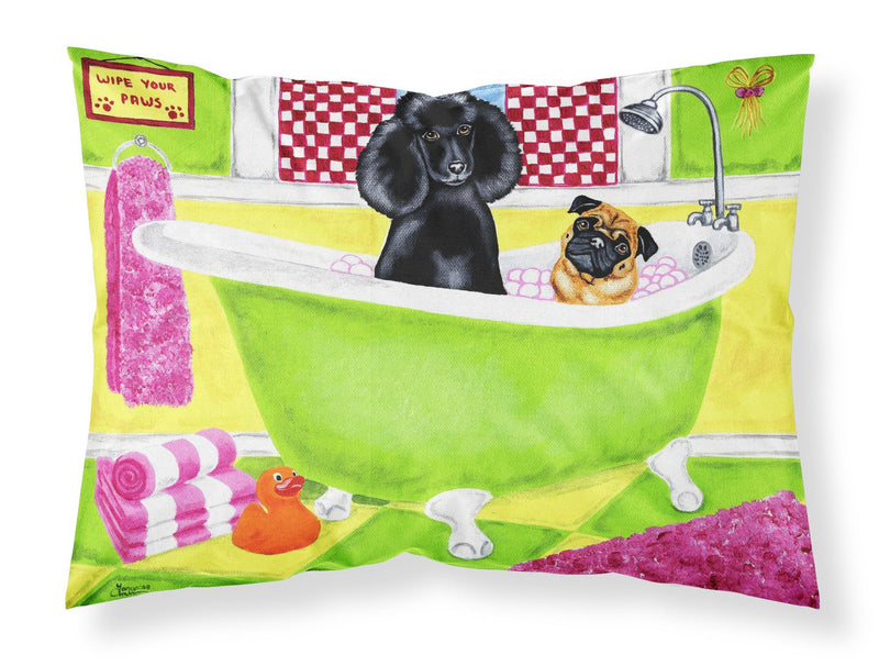 Buy this Tub for Two with Poodle and Pug Fabric Standard Pillowcase AMB1335PILLOWCASE