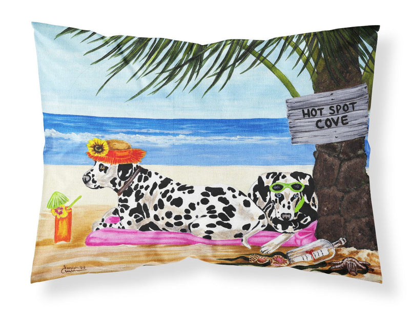 Buy this Hot Spot Cove Beach Dalmatian Fabric Standard Pillowcase AMB1342PILLOWCASE