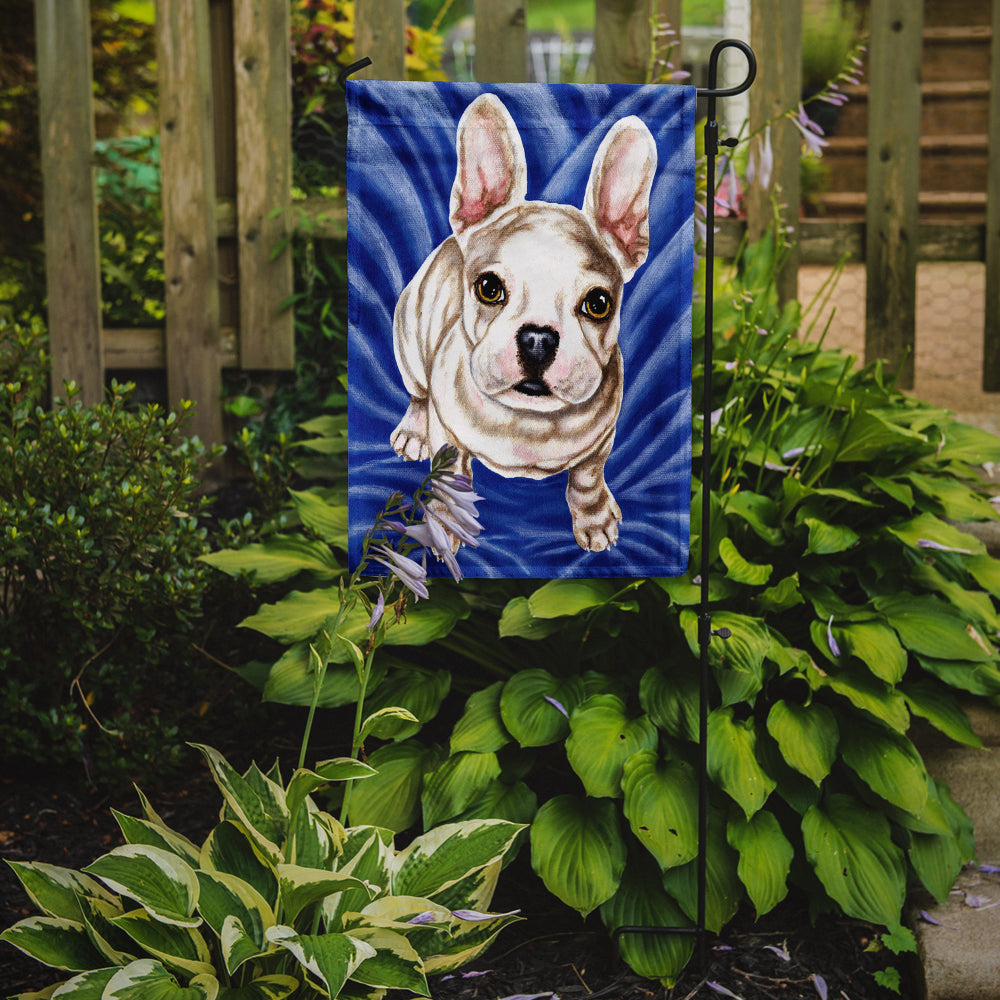 Diamond in Blue French Bulldog Flag Garden Size by Caroline's Treasures
