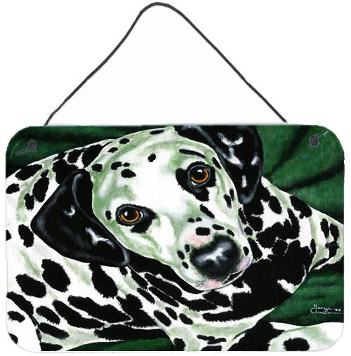 Emerald Beauty Dalmatian Wall or Door Hanging Prints AMB1359DS812 by Caroline's Treasures