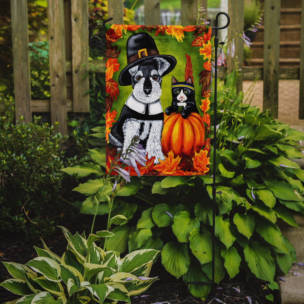 Thanksgiving Friends Schnauzer Flag Garden Size by Caroline's Treasures