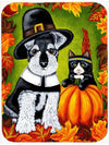 Thanksgiving Friends Schnauzer Mouse Pad, Hot Pad or Trivet AMB1364MP by Caroline's Treasures