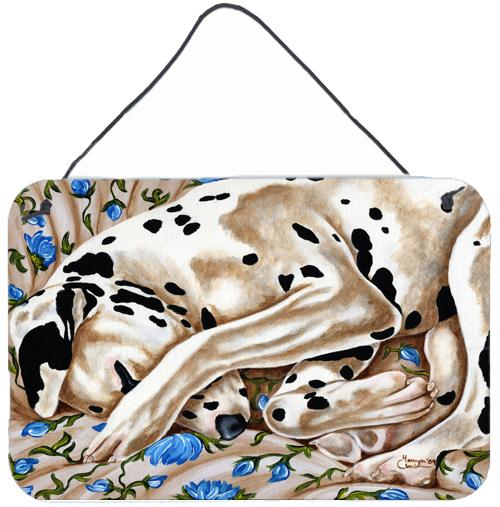 Bed of Roses Dalmatian Wall or Door Hanging Prints AMB1407DS812 by Caroline's Treasures