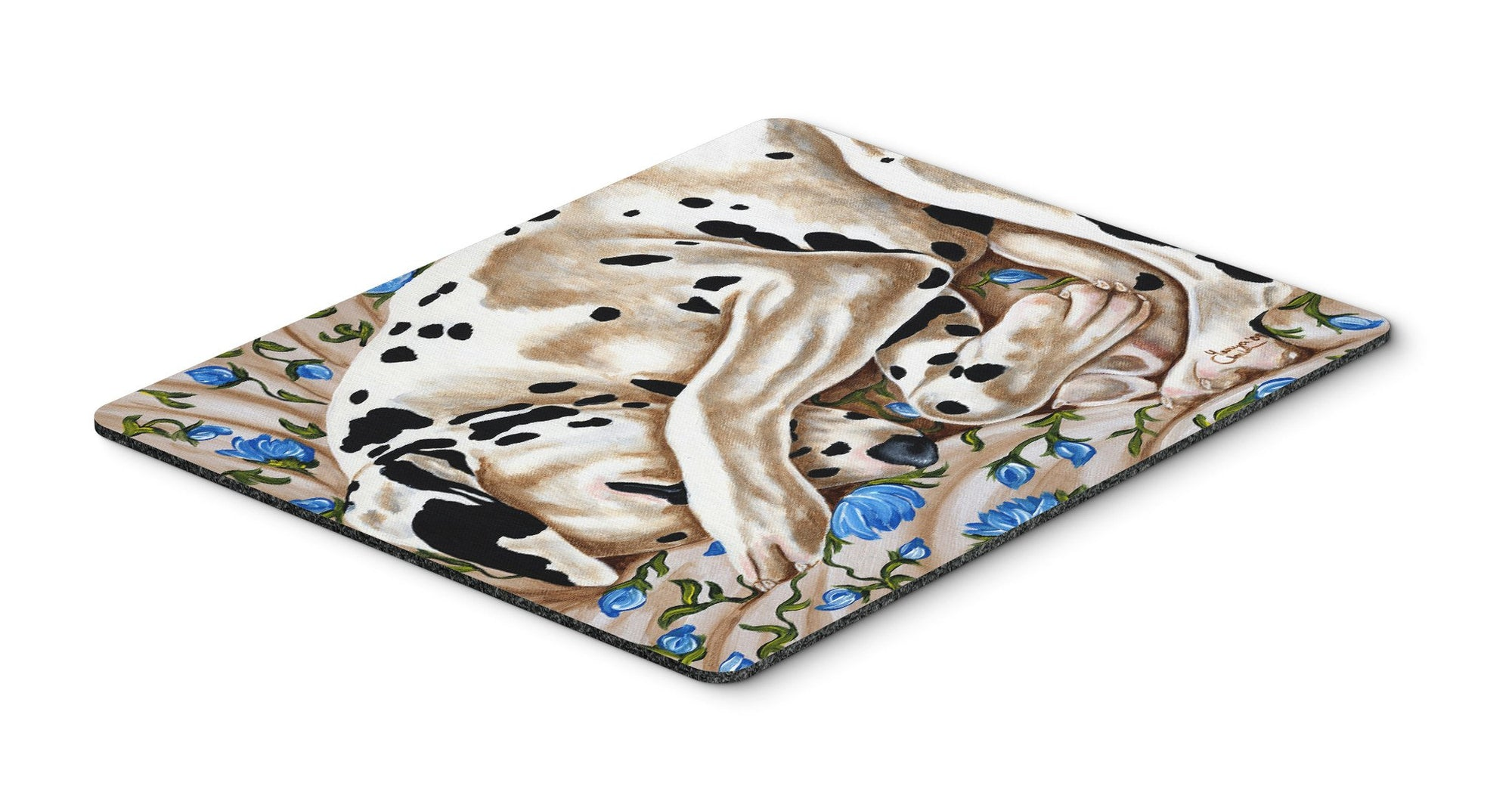 Bed of Roses Dalmatian Mouse Pad, Hot Pad or Trivet AMB1407MP by Caroline's Treasures