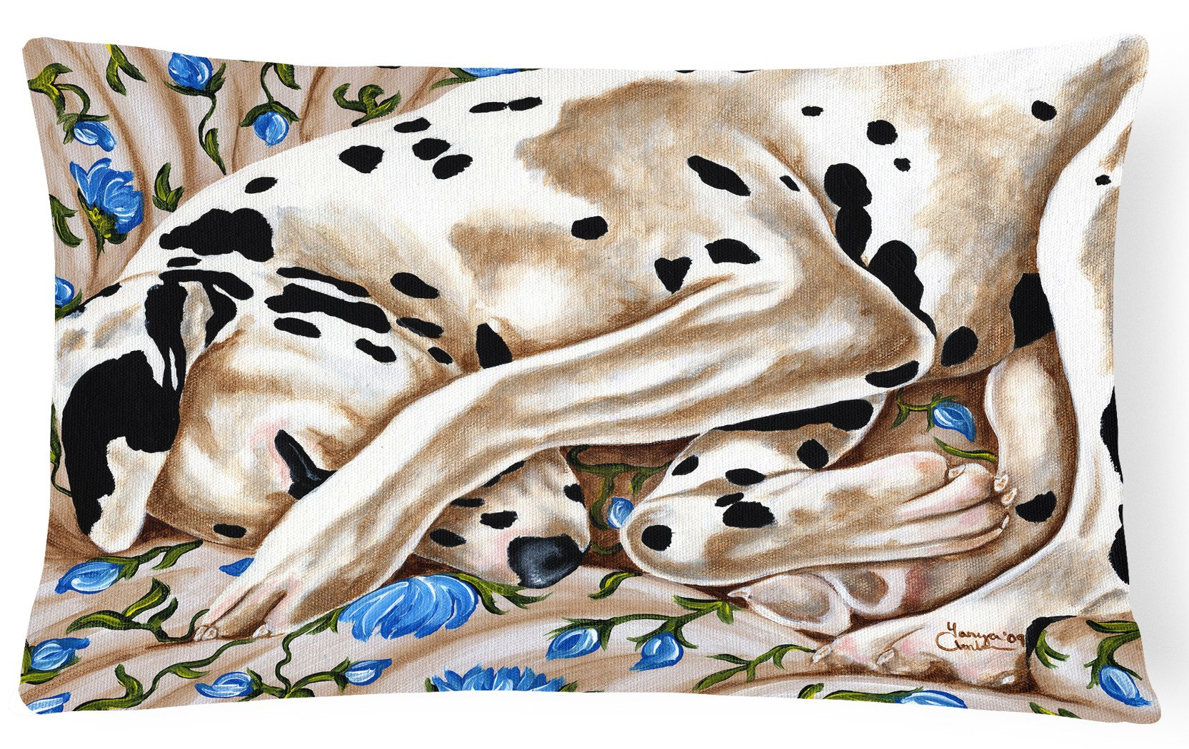 Bed of Roses Dalmatian Fabric Decorative Pillow AMB1407PW1216 by Caroline's Treasures