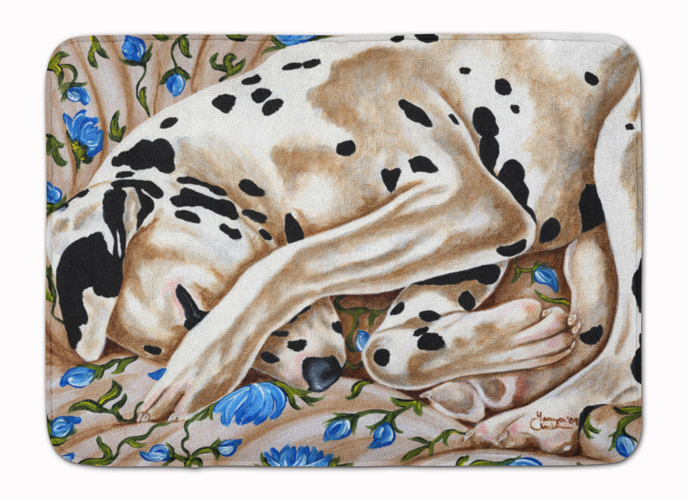 Bed of Roses Dalmatian Machine Washable Memory Foam Mat AMB1407RUG by Caroline's Treasures
