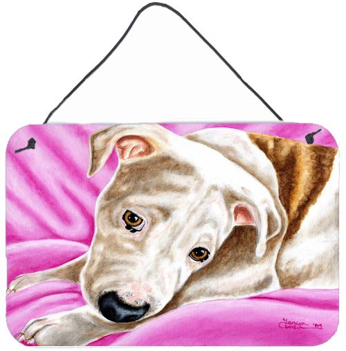 Dream Girl Pit Bull Wall or Door Hanging Prints AMB1413DS812 by Caroline's Treasures