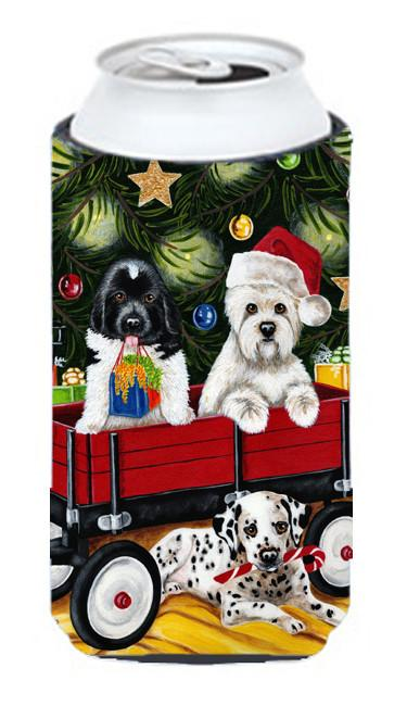 Christmas Westie, Newfoundland, Dalmatian Tall Boy Beverage Insulator Hugger AMB1445TBC by Caroline's Treasures
