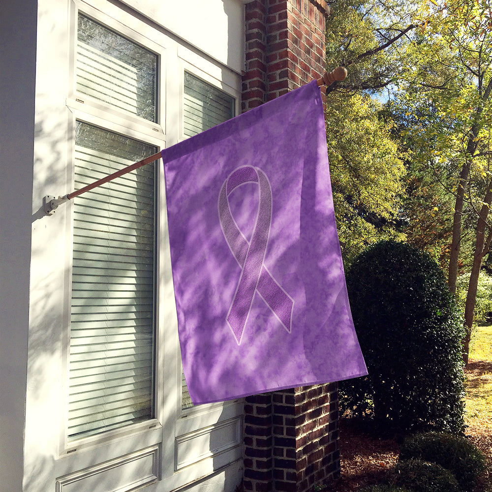 Lavender Ribbon for All Cancer Awareness Flag Canvas House Size AN1200CHF by Caroline's Treasures