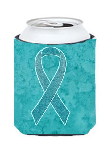 Buy this Teal Ribbon for Ovarian Cancer Awareness Can or Bottle Hugger AN1201CC