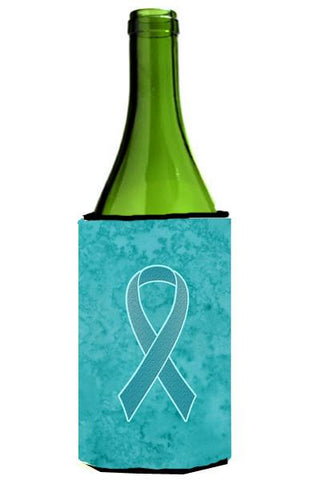 Buy this Teal Ribbon for Ovarian Cancer Awareness Wine Bottle Beverage Insulator Hugger AN1201LITERK