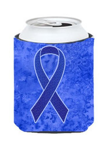 Buy this Dark Blue Ribbon for Colon Cancer Awareness Can or Bottle Hugger AN1202CC