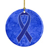 Dark Blue Ribbon for Colon Cancer Awareness Ceramic Ornament AN1202CO1 by Caroline's Treasures
