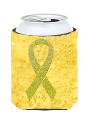 Buy this Yellow Ribbon for Sarcoma, Bone or Bladder Cancer Awareness Can or Bottle Hugger AN1203CC