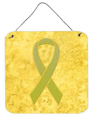 Buy this Yellow Ribbon for Sarcoma, Bone or Bladder Cancer Awareness Wall or Door Hanging Prints AN1203DS66
