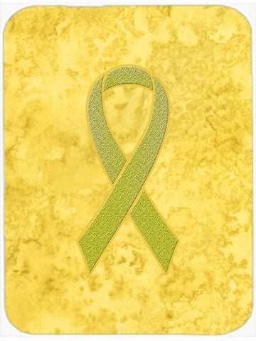 Buy this Yellow Ribbon for Sarcoma, Bone or Bladder Cancer Awareness Mouse Pad, Hot Pad or Trivet AN1203MP