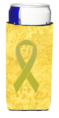 Buy this Yellow Ribbon for Sarcoma, Bone or Bladder Cancer Awareness Ultra Beverage Insulators for slim cans AN1203MUK