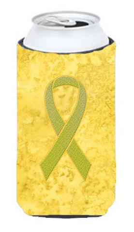 Buy this Yellow Ribbon for Sarcoma, Bone or Bladder Cancer Awareness Tall Boy Beverage Insulator Hugger AN1203TBC