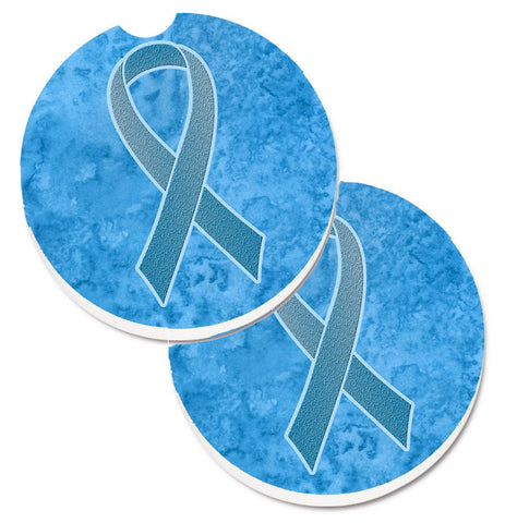 Buy this Blue Ribbon for Prostate Cancer Awareness Set of 2 Cup Holder Car Coasters AN1206CARC
