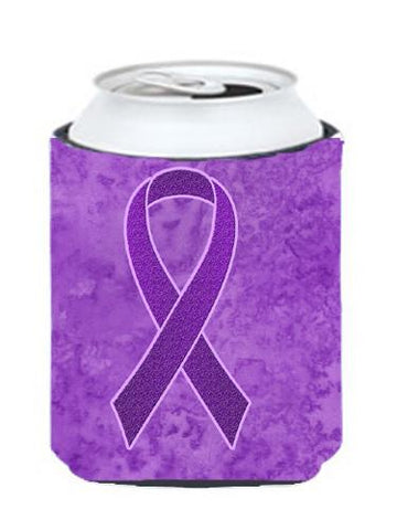 Buy this Purple Ribbon for Pancreatic and Leiomyosarcoma Cancer Awareness Can or Bottle Hugger AN1207CC