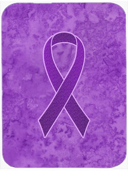 Purple Ribbon for Pancreatic and Leiomyosarcoma Cancer Awareness Glass Cutting Board Large Size AN1207LCB by Caroline's Treasures
