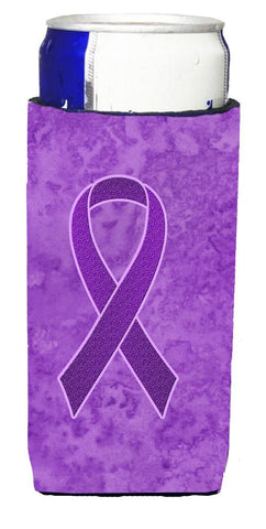 Buy this Purple Ribbon for Pancreatic and Leiomyosarcoma Cancer Awareness Ultra Beverage Insulators for slim cans AN1207MUK