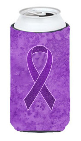 Buy this Purple Ribbon for Pancreatic and Leiomyosarcoma Cancer Awareness Tall Boy Beverage Insulator Hugger AN1207TBC
