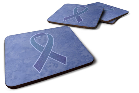 Buy this Set of 4 Periwinkle Blue Ribbon for Esophageal and Stomach Cancer Awareness Foam Coasters AN1208FC