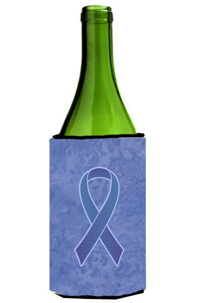 Periwinkle Blue Ribbon for Esophageal and Stomach Cancer Awareness Wine Bottle Beverage Insulator Hugger AN1208LITERK by Caroline's Treasures
