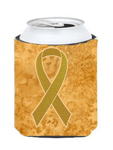 Buy this Gold Ribbon for Childhood Cancers Awareness Can or Bottle Hugger AN1209CC
