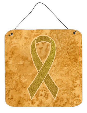 Buy this Gold Ribbon for Childhood Cancers Awareness Wall or Door Hanging Prints AN1209DS66