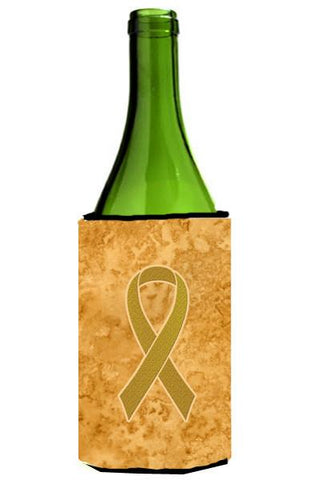 Buy this Gold Ribbon for Childhood Cancers Awareness Wine Bottle Beverage Insulator Hugger AN1209LITERK