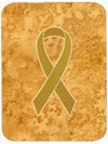 Gold Ribbon for Childhood Cancers Awareness Mouse Pad, Hot Pad or Trivet AN1209MP by Caroline's Treasures