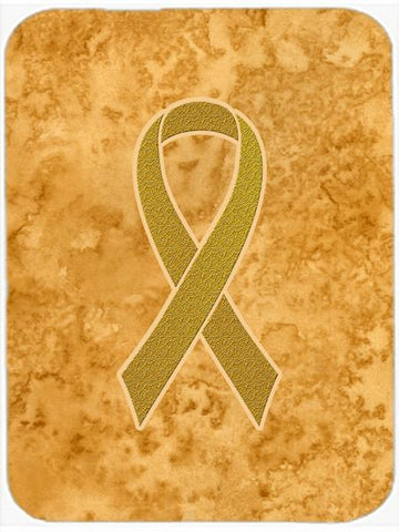 Buy this Gold Ribbon for Childhood Cancers Awareness Mouse Pad, Hot Pad or Trivet AN1209MP