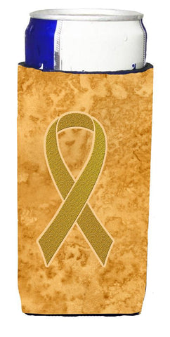 Buy this Gold Ribbon for Childhood Cancers Awareness Ultra Beverage Insulators for slim cans AN1209MUK