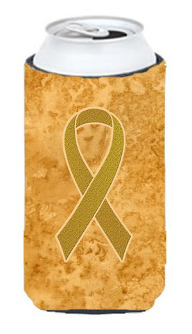Buy this Gold Ribbon for Childhood Cancers Awareness Tall Boy Beverage Insulator Hugger AN1209TBC