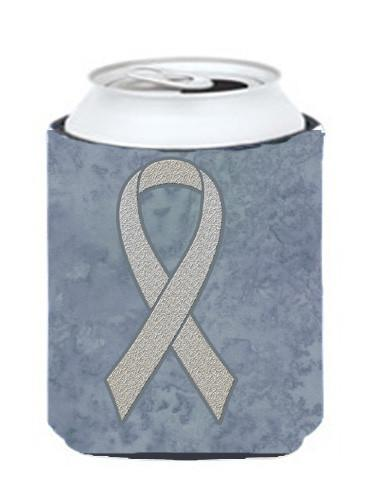 Clear Ribbon for Lung Cancer Awareness Can or Bottle Hugger AN1210CC - the-store.com